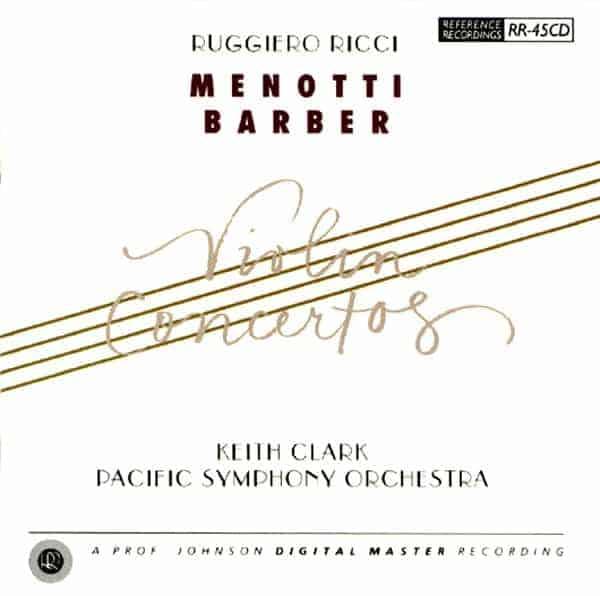 Menotti-Barber Violin Concertos | Pacific Symphony
