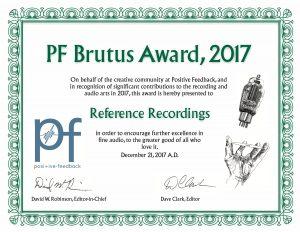 Positive Feedback Brutus Award 2017