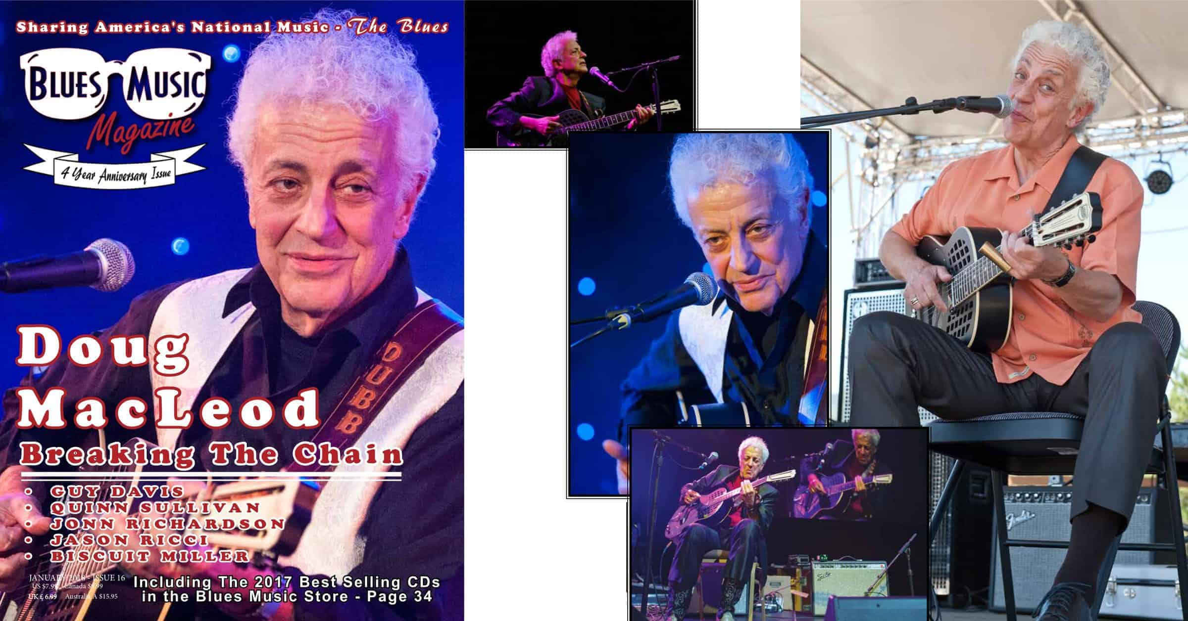 Blues Music Magazine Feature for Doug MacLeod