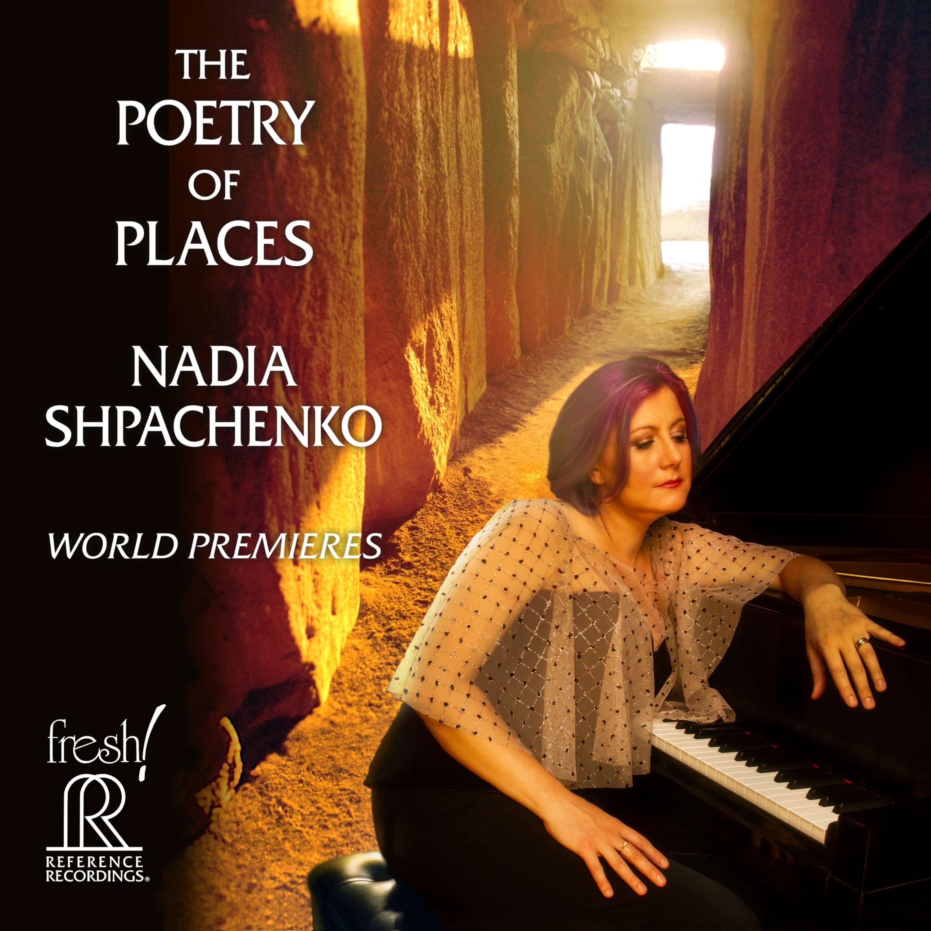 Nadia Shpachenko's The Poetry of Places recording album cover