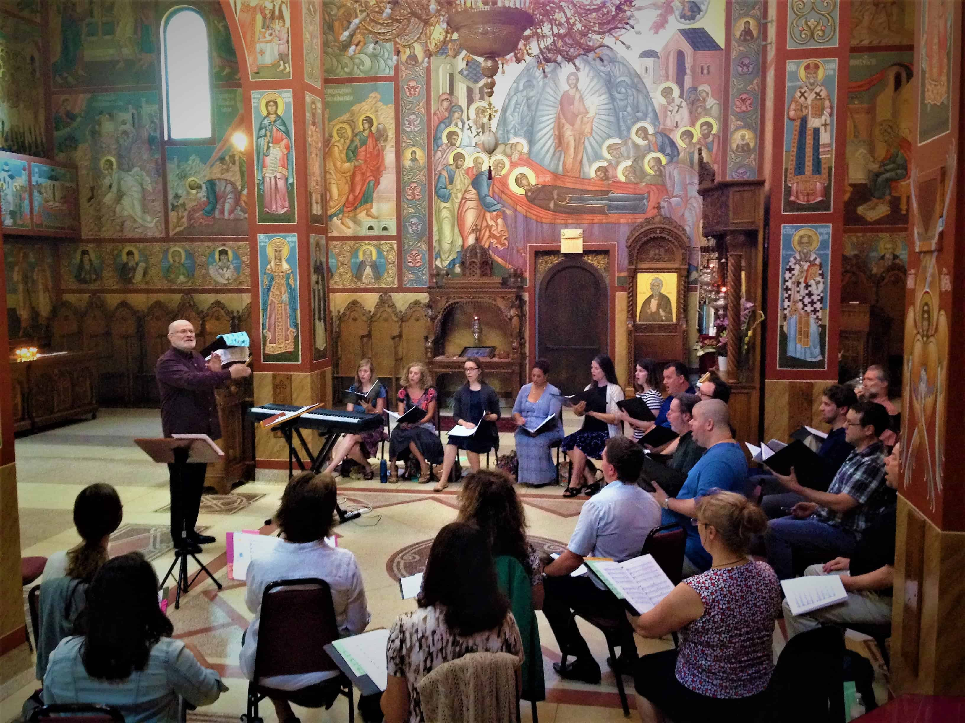 Kurt Sander: The Divine Liturgy of St. John Chrysostom recording session photo