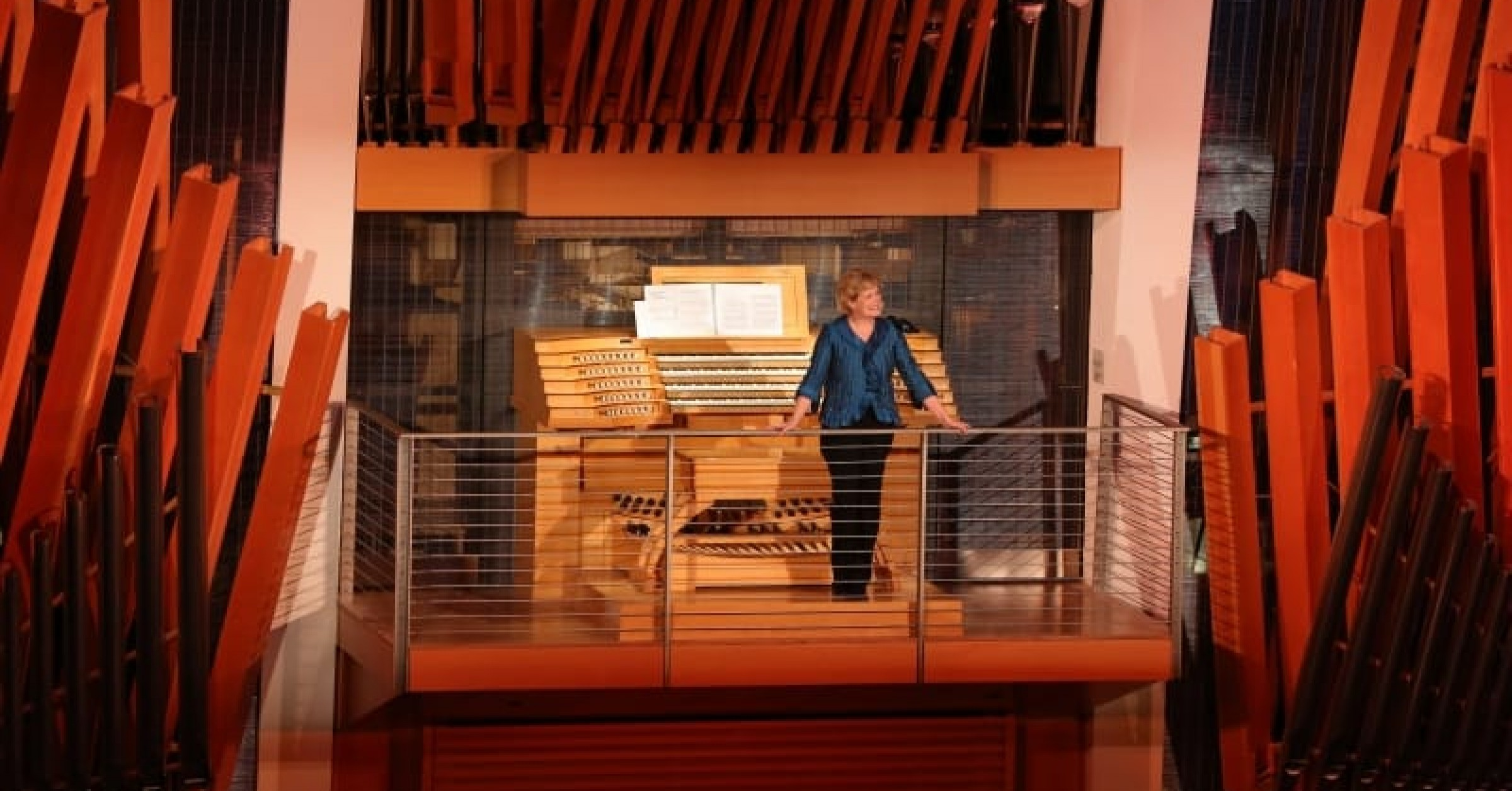 Jan Kraybill at the Kauffman Organ