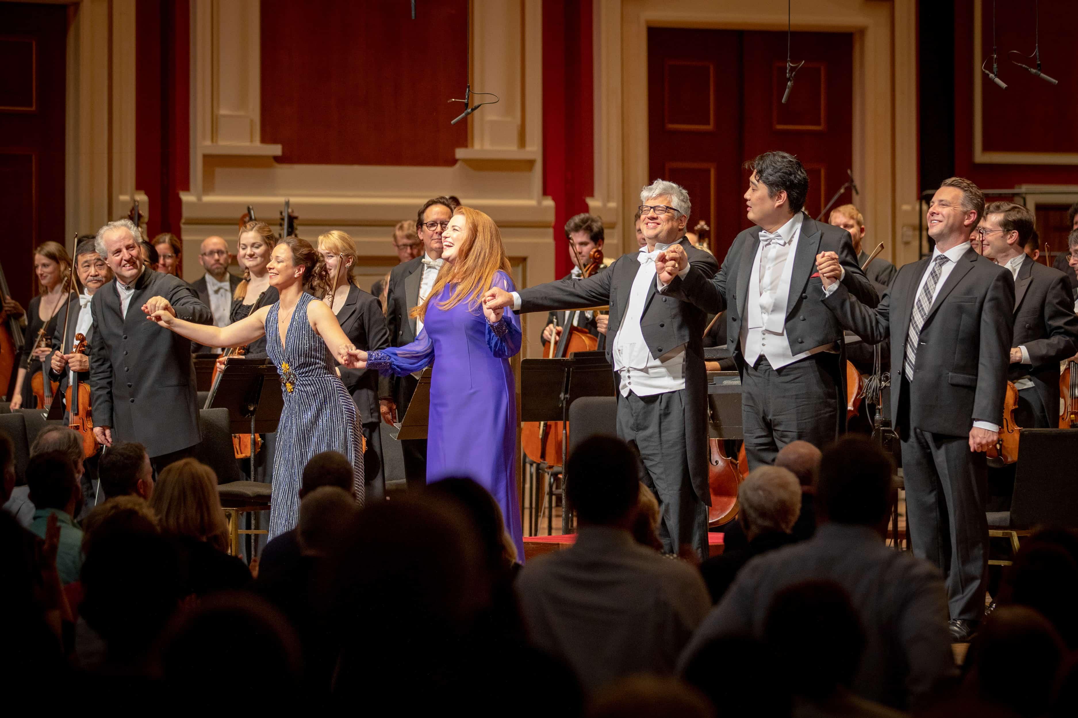 Beethoven 9 recording concert: Manfred Honeck, Christina Landshamer, Jennifer Johnson Cano, Werner Güra, Shenyang, Matthew Mehaffey © Pittsburgh Symphony Orchestra